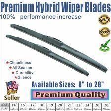 """20"""" + 24"""" Premium Windshield Wiper Blades  OEM Quality J-Hook"""