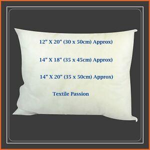 """Rectangle Cushions Pillows Insert Inners Pads Filler Oblong 14x18"""" 14x20"""" 12x20"""""""
