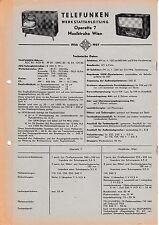 Service Manual-Anleitung für Telefunken Operette 7,Musiktruhe Wien