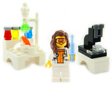 NEW LEGO FEMALE SCIENTIST LAB MINIFIG science engineer microscope minifigure