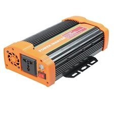 ONDA SINUSOIDALE MODIFICATA 300w 600w 1000w 1000 Watt Invertitore di potenza di picco 2000w DC 12v.