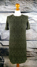 H&M Damen Gr. 36 Spitze Etuikleid Kleid Khakie Grün Dress Tunika Robe #212