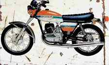 Ossa 250T 1975 Aged Vintage Photo Print A4 Retro poster