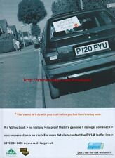 "DVLA V5 Logbook ""Nice Little Runner"" 2003 Magazine Advert #170"
