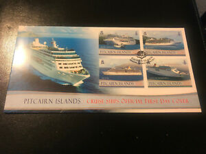 Pitcairn Islands 2013, FDC, Cruise Ships, Excellent Condition