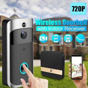 Smart Wireless WiFi Ring Doorbell Security Intercom Video Camera Door Bell Chime