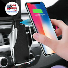 Universal Wireless Fast Charger Car Mount Holder Stand For iPhone Huawei Samsung