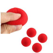 """4 RED SPONGE BALLS Magic Trick Close Up Clown 2"""" Foam Magician Set Vanish Appear"""