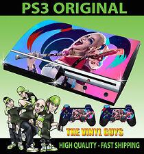 PLAYSTATION 3 Adhesivo Harley Quinn suicidio escuadrón 02 rosa azul de la piel y 2 Pad Skins