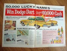 1961 Dodge Dart Ad  Win Dodge Dart Filled with $10,000 Cash