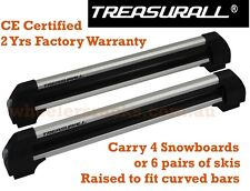 Treasurall Snowboard Ski Fishing Rod Carrier for Roof Racks Cross Bars