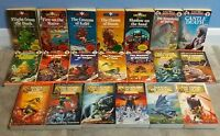 *SIGNED* 20 LONE WOLF Book Set (Sparrow, Beaver, Red Fox) Joe Dever. 1st Edition