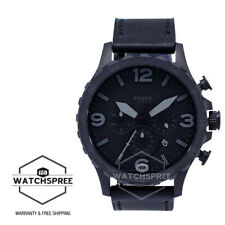 Fossil Nate Chronograph Men's Leather Watch JR1354