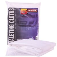 5 x Car Valeting Lint Free 100% Supersoft Cotton Polishing Cloths Cleaning Wash