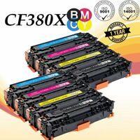 8PK Toner Set For HP CF380X -3A 312X Color LaserJet Pro MFP M476dn M476dw M476nw