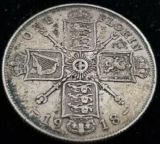 United Kingdom England 1 Florin 1918 92.5% Silver