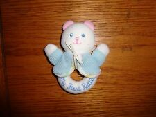 Eden Baby Rattle Thermal Blue Jacket My First White Bear Pink Ears