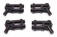 LEGO  - 4 x doppelläufige Pistole schwarz / Blaster / Waffe / 95199 NEUWARE