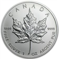 1 ONZA PLATA MONEDA CANADÁ MAPLE LEAF 2013 5CAD Royal Canadian Mint