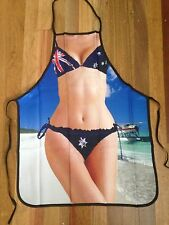 Fun Sexy Australia Day Bikini BBQ Apron Party Novelty Costume Aussie Flag