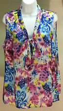 NWT Elementz Women's Multi-Color Sleeveless Top Blouse Sz: XL