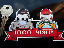 MILLE MIGLIA Driver & Passenger classic car sticker