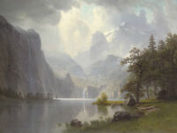 In the Mountains, 1867 by Albert Bierstadt Art Print Landscape Poster 11x14