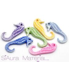 20x Cavalluccio marino Acrilico mix colorato Ciondolo Charm tinker Materiale