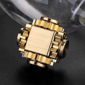 EDC Gear Brass Linkage Gyroscope Fingertips Gearwheel Gyro Spinning Top Toy