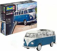 Revell 07009 - Volkswagen VW T1 Bulli Samba Bus im Maßstab 1:16, Level 5