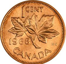 1968 CANADA 1 Cent BU Copper Penny Uncirculated