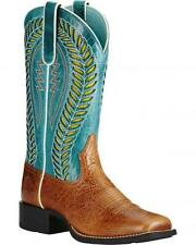 Ariat Womens Quickdraw Vent TEK Gingersnap/Turquoise Boot 10019903