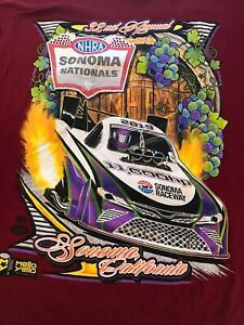 NHRA DRAG RACING 2019 SONOMA NATIONALS Red T- SHIRT  SIZE 2X