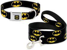 Buckle Down Seatbelt Dog Collar or Leash Batman Shield DC Comics - Made in USA