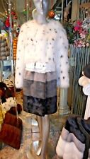 Very Unique and Stylish Mink and Fox Fur Coat Stunning Design $12000. ON SALE!!