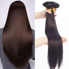 4Bundles 2# Brown Brazilian Straight Human Hair Extensions Fashion Brown Hair