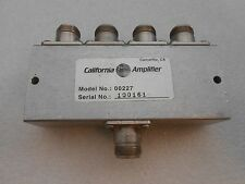 CALIFORNIA AMPLIFIER 4 WAY POWER DIVIDER 3.7-4.6 GHz MODEL 00227 VSAT