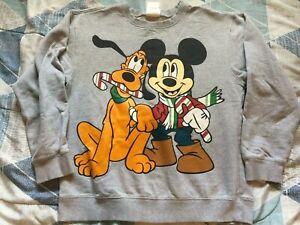 Disneyland Mickey Inc Walt Disney World Crewneck Sweater Youth 10/12