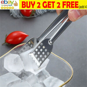 1pc Stainless Steel BBQ Food Tongs Anti Heat Barbecue Kitchen Tongs Kitchen ToNL
