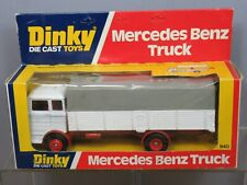 """VINTAGE DINKY TOYS MODEL No.940 MERCEDES BENZ  TRUCK  """" RED  WHEELS """"  VN  MIB"""