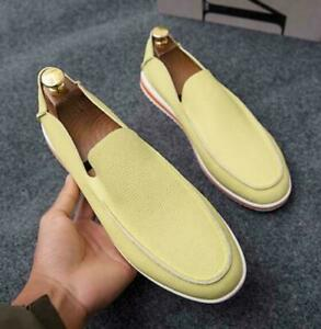 Men's Flat Leather Slip On Casual Driving Low Top Summer Moccasin Loafers Shoes