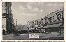 View on Liberty Street, 200 Block, Warren PA Postcard 1940