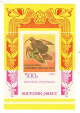 1983 Indonesia Sc 1213a Canderawasih Birds souvenir sheet MMH
