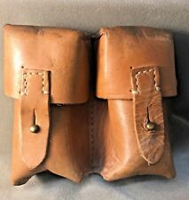 Original Yugoslavian SKS Two Pocket Leather Ammunition Pouch
