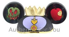 NEW Disney Parks Snow White EVIL QUEEN Crown Poisoned Apple Jeweled Ear Hat Cap