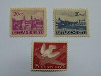 3 Marken (*) Estland Deutsche u. Sowjetische Besetzung Mi W2ES 5 & 6 u. EST 162w