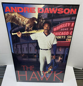 VTG 1988 Andre Dawson The Hawk Costacos Bros Poster Wrigley Field Chicago Cubs