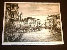 Regata storica Venezia innanzi al Duca di Genova Canal Grande - Pericle Manin