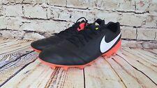 Nike Men's Tiempo Legacy II Soccer Cleats Black Hyper Orange ⚽