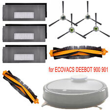 Filter&Brush Replacement for ECOVACS DEEBOT 900 901 Robotic Vacuum Cleaner Parts